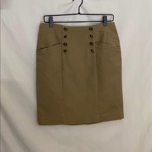 BANANA REPUBLIC sailor button pencil skirt size 6